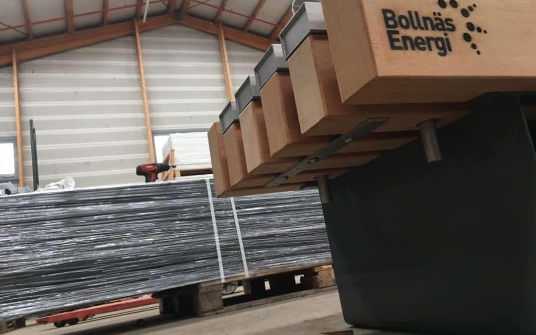 Fjärrvärme i bänkarna på Bollnäs nya resecentrum